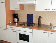 Fully equipped kitchen in every apartment